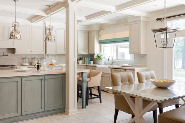 sherwin williams wool skein and topsail – bright and airy kitchen for the ultimate contemporary feel