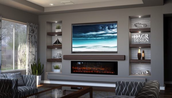 13 Ways To Design A Linear Fireplace With Tv Above For A Stunning Home Kellyhogan