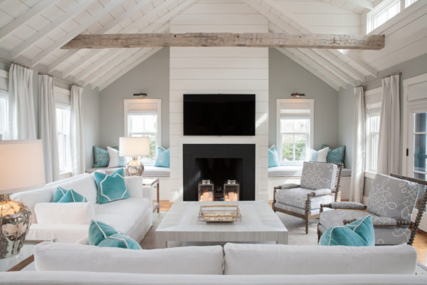 try a coastal style living room with gray and white combo on walls and upholstery