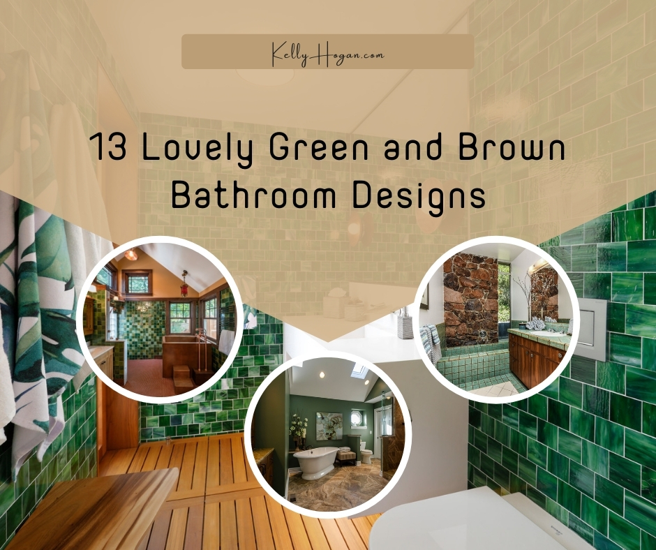 13 Lovely Green And Brown Bathroom Designs