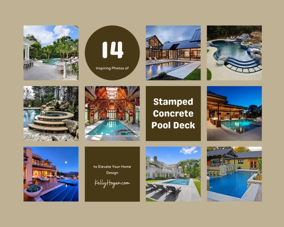 14 Inspiring Photos Of Stamped Concrete Pool Deck